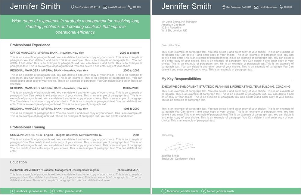 Resume Template 110380 Template, Modern resume template and Modern