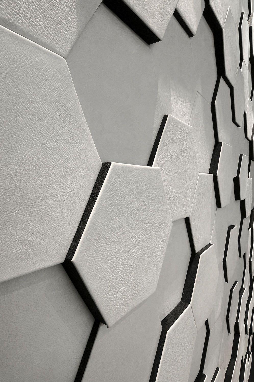 panneau d coratif mural en cuir relief vaugirard. Black Bedroom Furniture Sets. Home Design Ideas