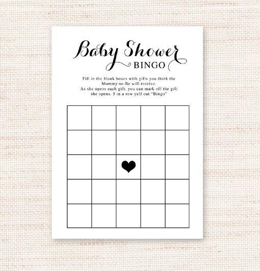 Free Printable Simple Black And White Baby Shower Bingo Game Georgina Collection La La Printables Baby Shower Bingo Free Printable Baby Shower Bingo Free Baby Shower Bingo
