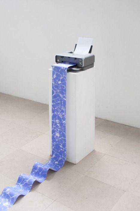 printer printing water waves Thomas Cristiani & Antoine Roux, Paris.