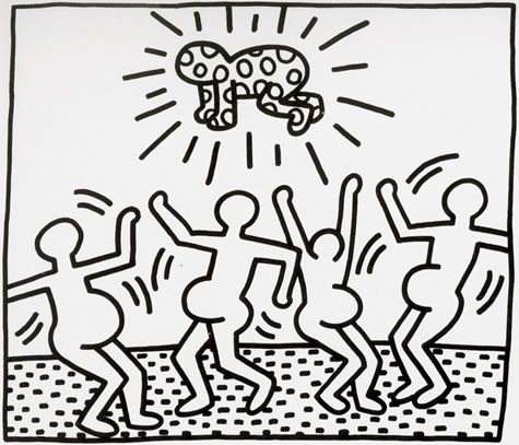 Keith Haring Ink On Paper Haring Was Known For His Expressive