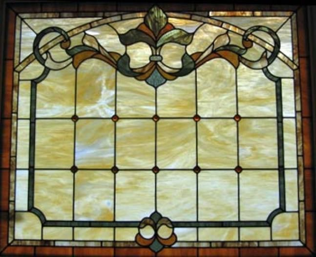 Elegant, simple Stained Glass Ideas for Master Bath Pinterest