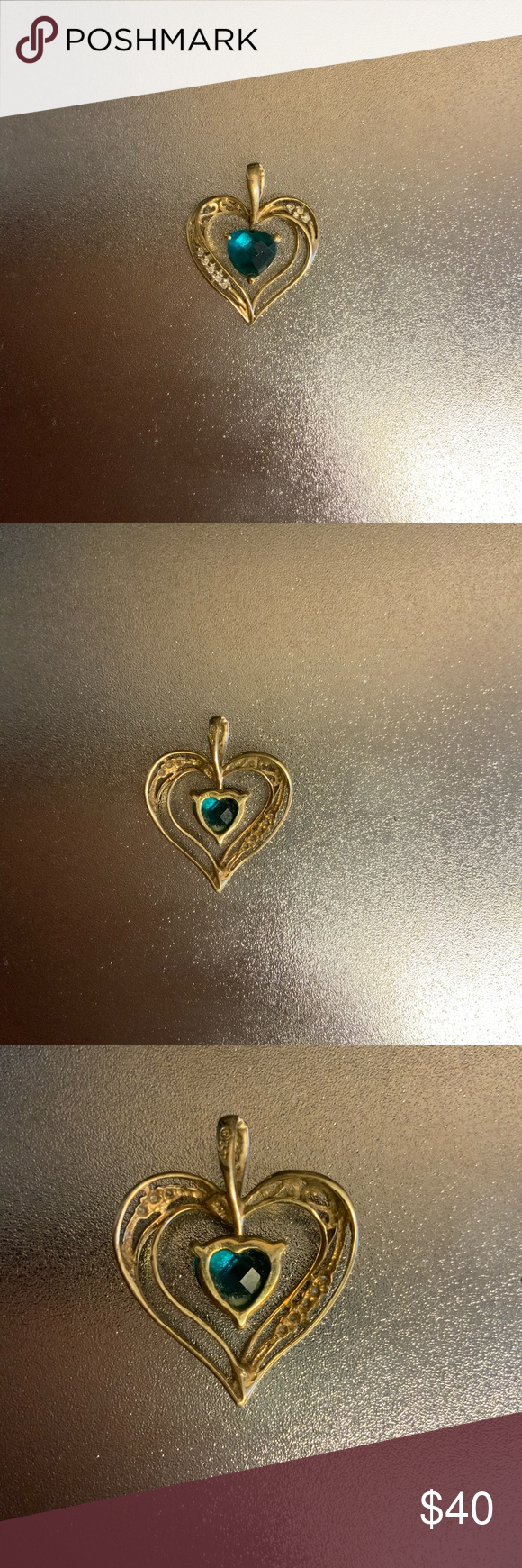 10k Gold Emerald Heart Pendant Price Of 10k Gold Today November 29 2019 Is 19 51 Per Gram Jewelry Necklaces Womens Jewelry Necklace 10k Gold Heart Pendant