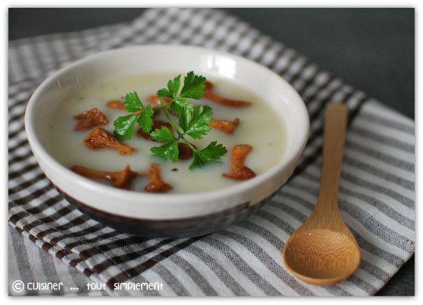 Velout de topinambours aux girolles cuisiner tout simplement le blog de cuisine de - Cuisiner les topinambour ...