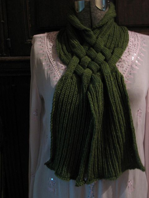 Celtic Knot Knitting Pattern Free : Free celtic knot looped scarf pattern by patricia everett