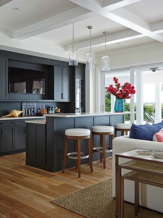 Beach Cottage Living Room Wet Bar Bars For Home Interior Design Home