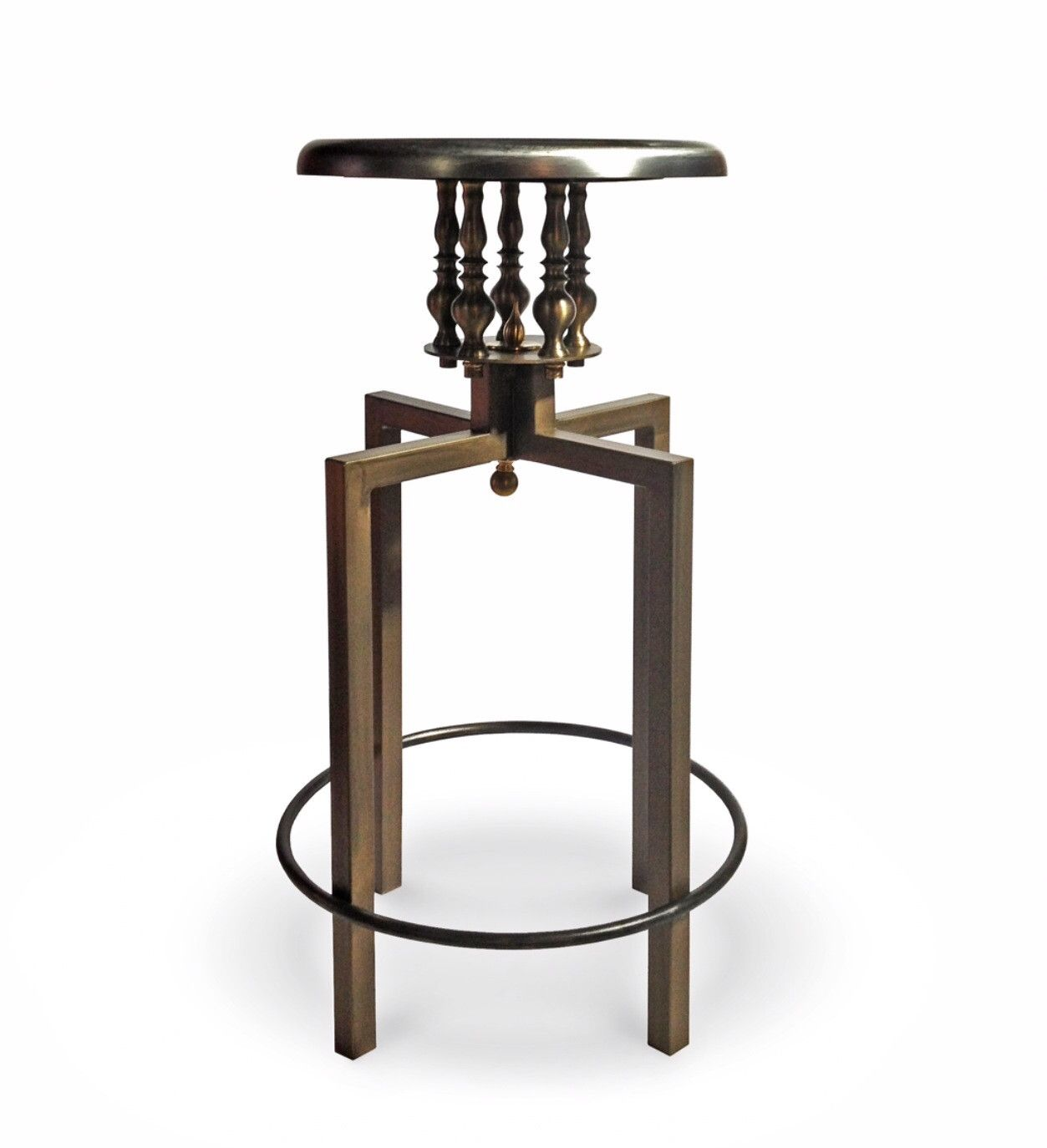 Industrial Design Bar Stools Industrial Chic Backless Counter Stool Steampunk