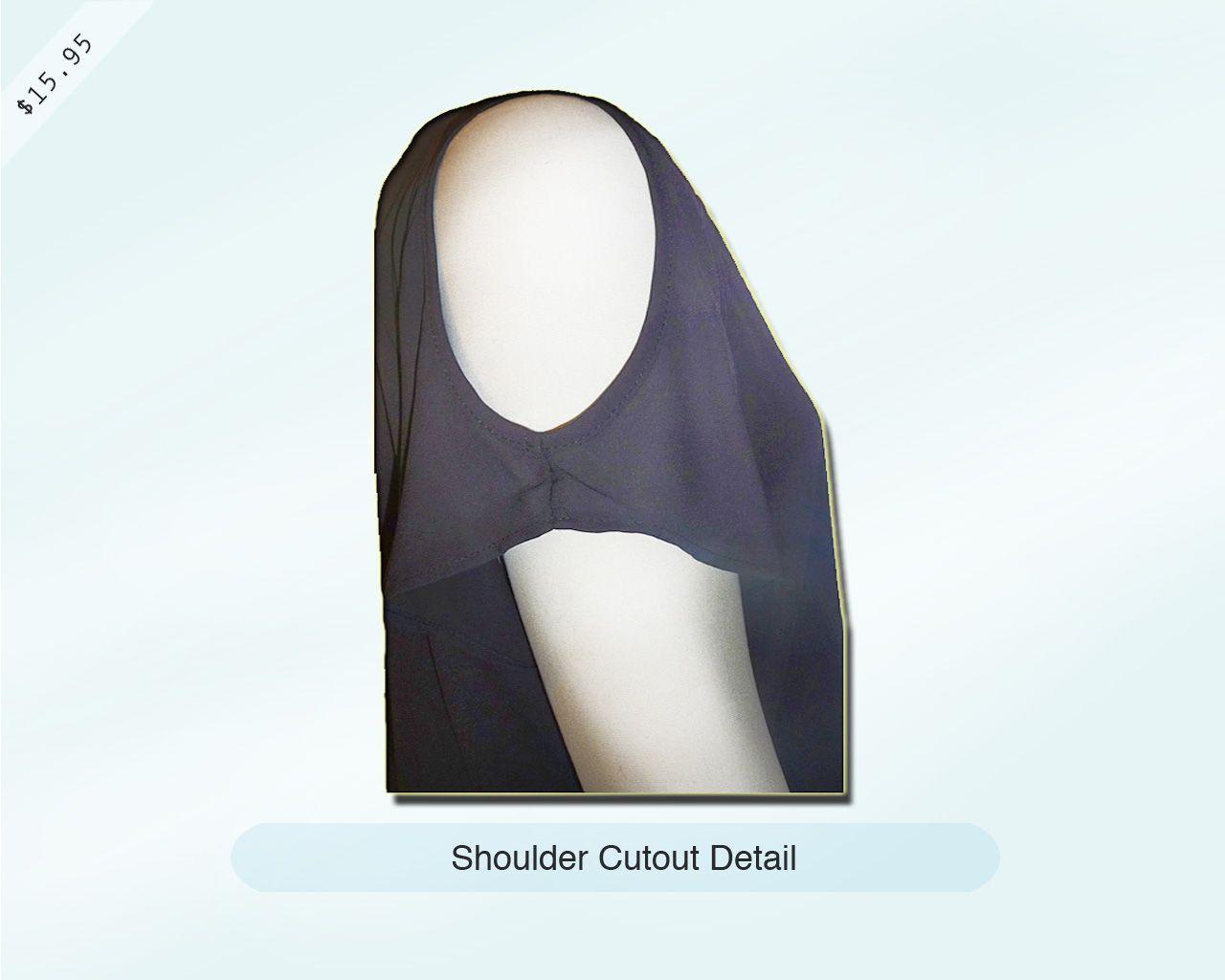 Black Shoulder Cutout Top - Detail