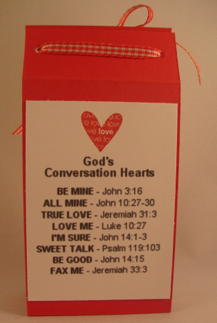 I love this way to cover conversation heart boxes.