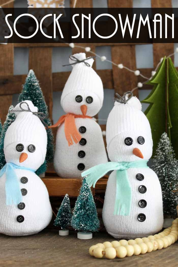 Sock Snowman: A quick and easy craft idea! | Quick, easy ...