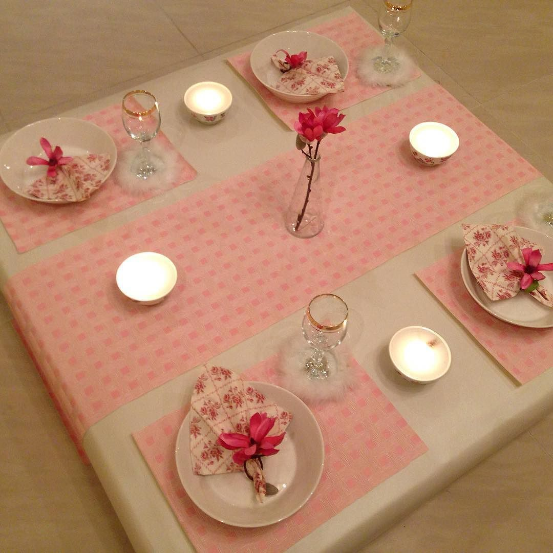 Placemat On Instagram طاوله ارضيه مع المفرش Envelope Scrapbook Living Room Playroom Table Decorations
