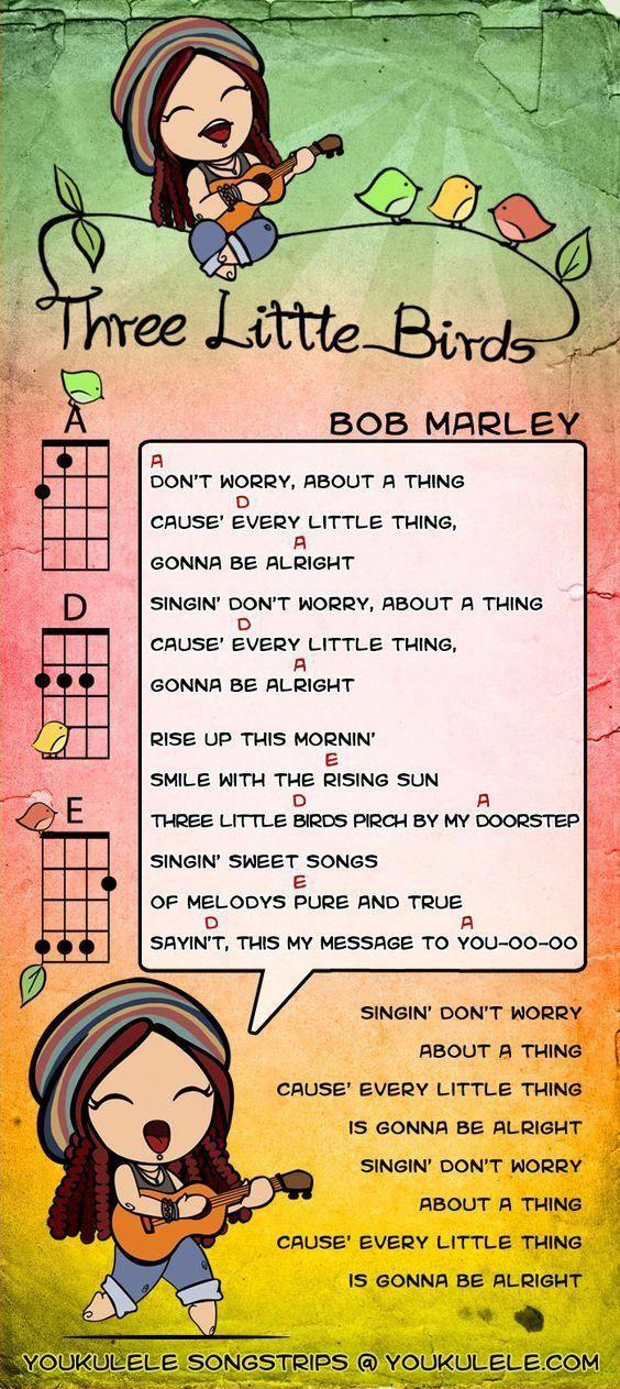 Three Little Birds — Bob Marley ukulele tabs #kalaukulele – Sarah Caitlin Green