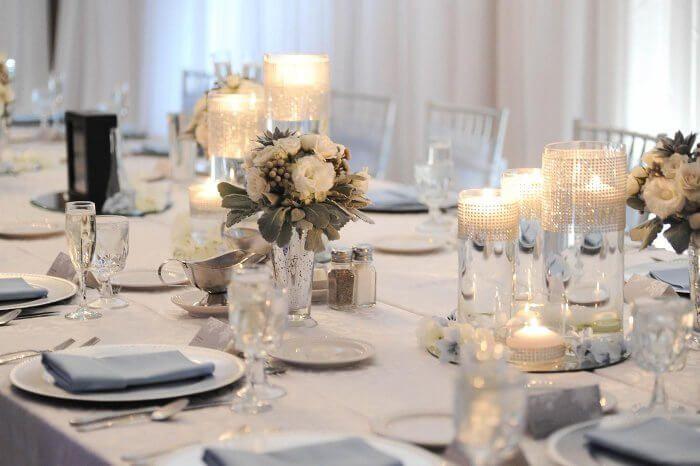 Kerzen Im Glas In 2019 Tischdekoration Zur Hochzeit