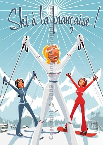 Ski A La Francaise Vintage Ski Posters Ski Posters Vintage Ski