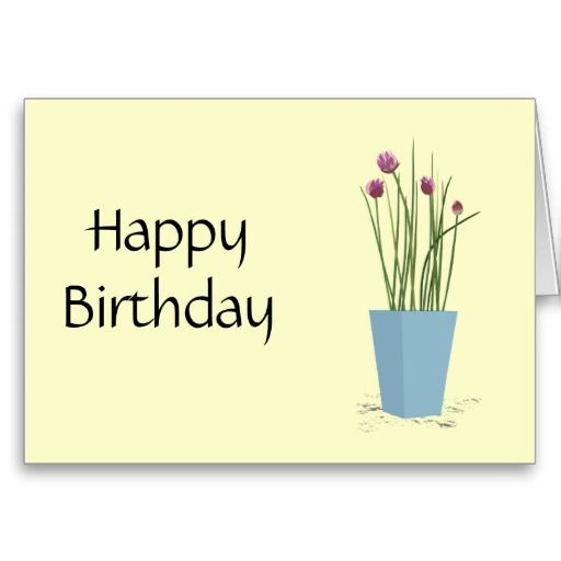 Chives - Happy Birthday Card Template Cards Birthday Pinterest - birthday card template