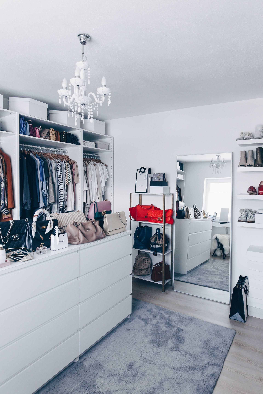 so habe ich mein ankleidezimmer eingerichtet und gestaltet begehbarer kleiderschrank ikea. Black Bedroom Furniture Sets. Home Design Ideas