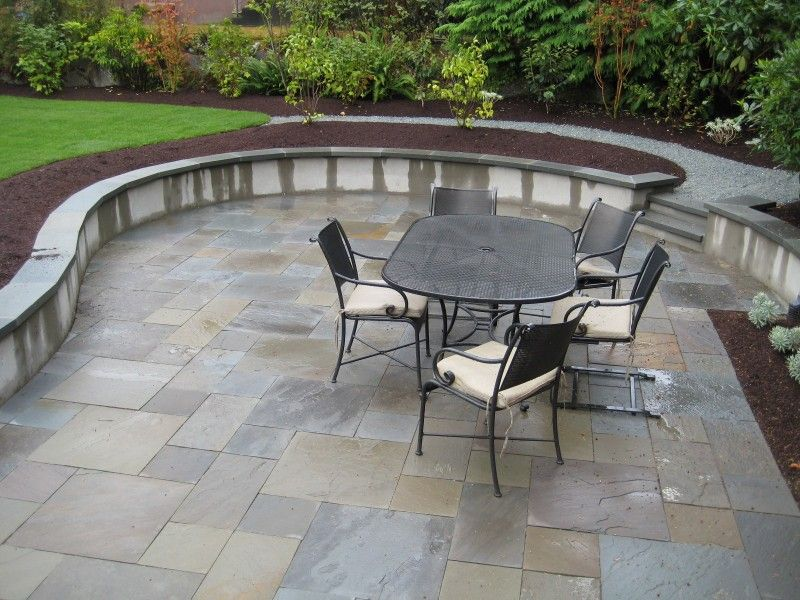 Poured Concrete Seating Wall Lifestyle Landscapes Com Outdoor Patio Space Patio Wall Seating