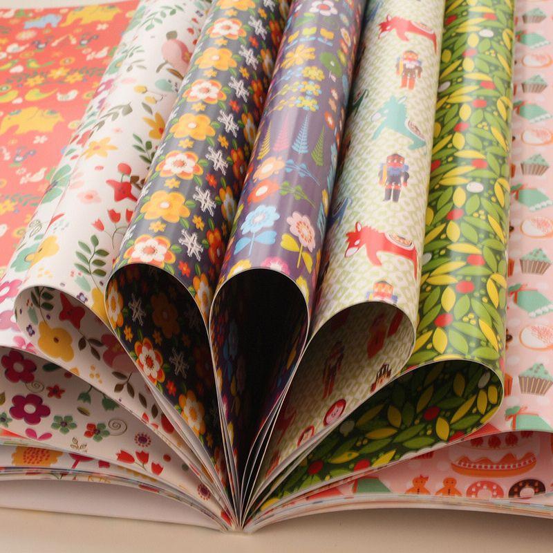 Nueva ROSA FLOR 44x30cm ENVASADO papel de regalo la página 32 para cada conjunto de 16 diferentes Patrón en Artesanías de Casa y Jardín en AliExpress.com | Alibaba Group