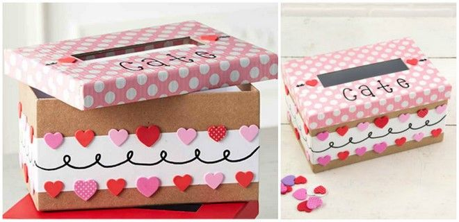 Cute Shoebox Idea For Her Valentines Day Boxes Hearts Decoration Classy Valentine Shoe Box Decorating Ideas
