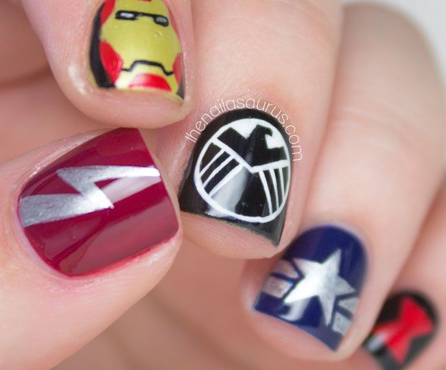 20 Worth Trying Long Stiletto Nails Designs | Marvel avengers ...
