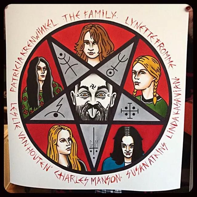 Tattoo flash by gonzalo mm en lastportleon the family for Charles manson tattoos