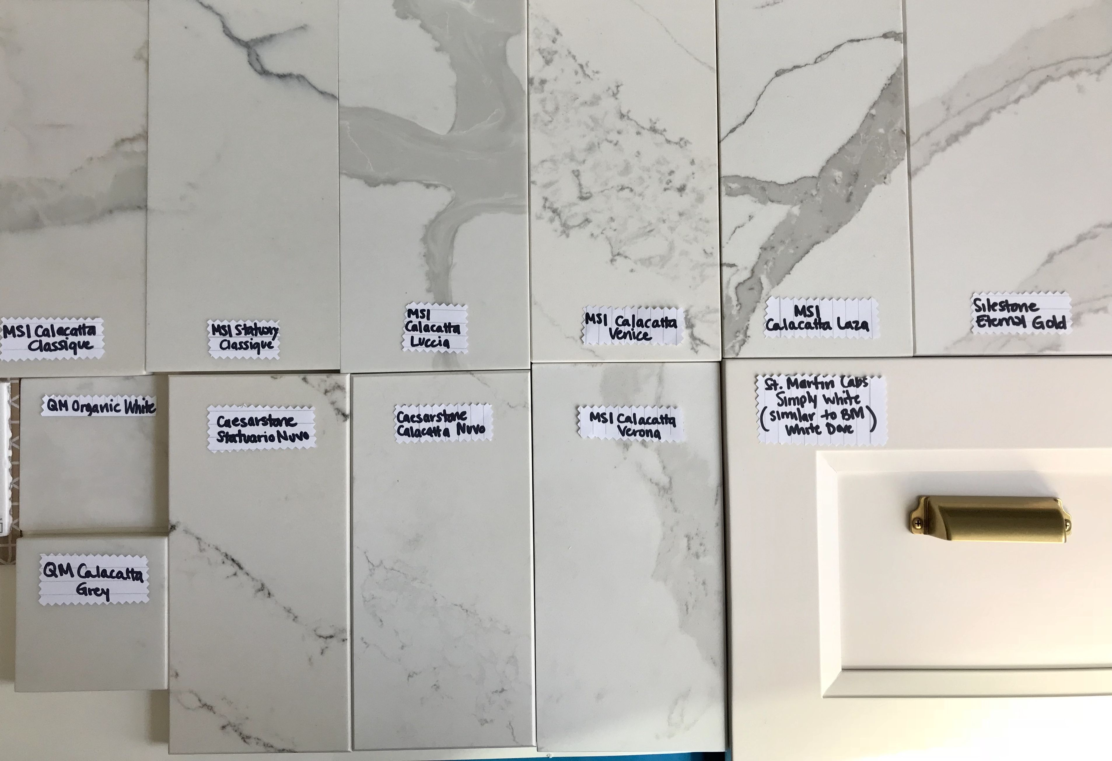Quartz Samples In Daylight Msi Calacatta Clique Statuary Luccia
