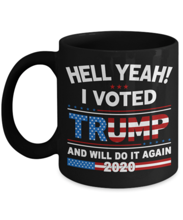 I Voted Trump Flag Coffee Cups Great Trump 2020 for any American Patriot Gifts
