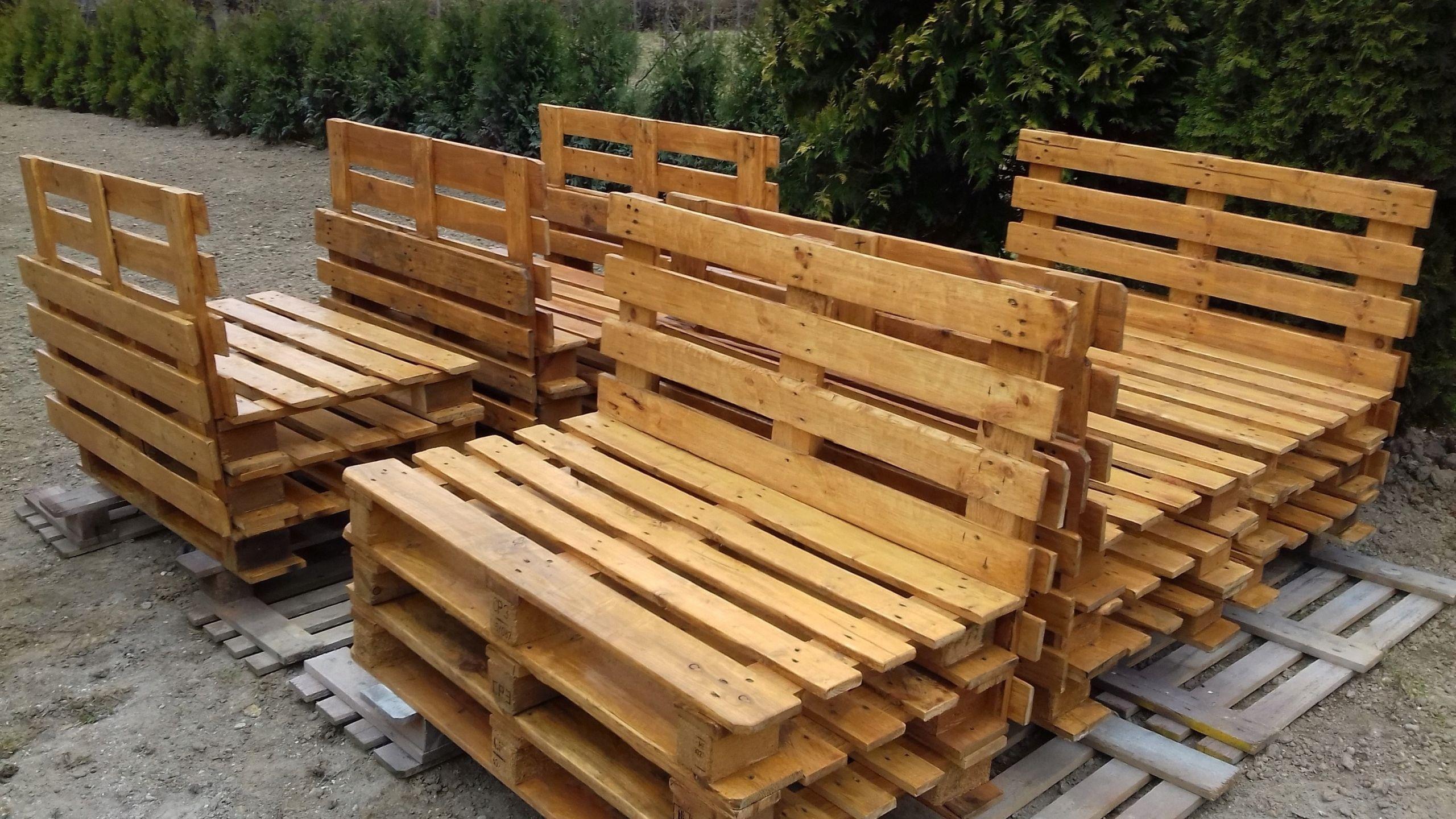 Meble Z Palet Lawka Tarasowa Ogrodowa Kolory Wood Texture