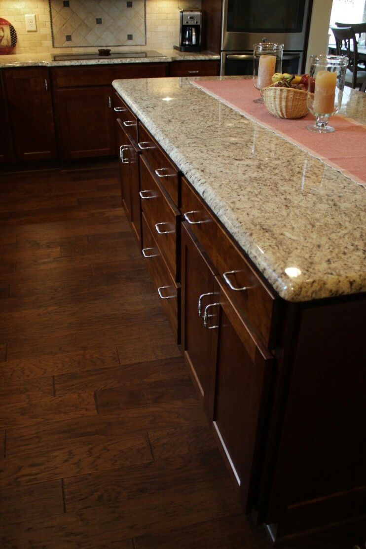 Kitchen cabinets homecrest arbor cherry cinnamon designed for Hardwood floors knoxville