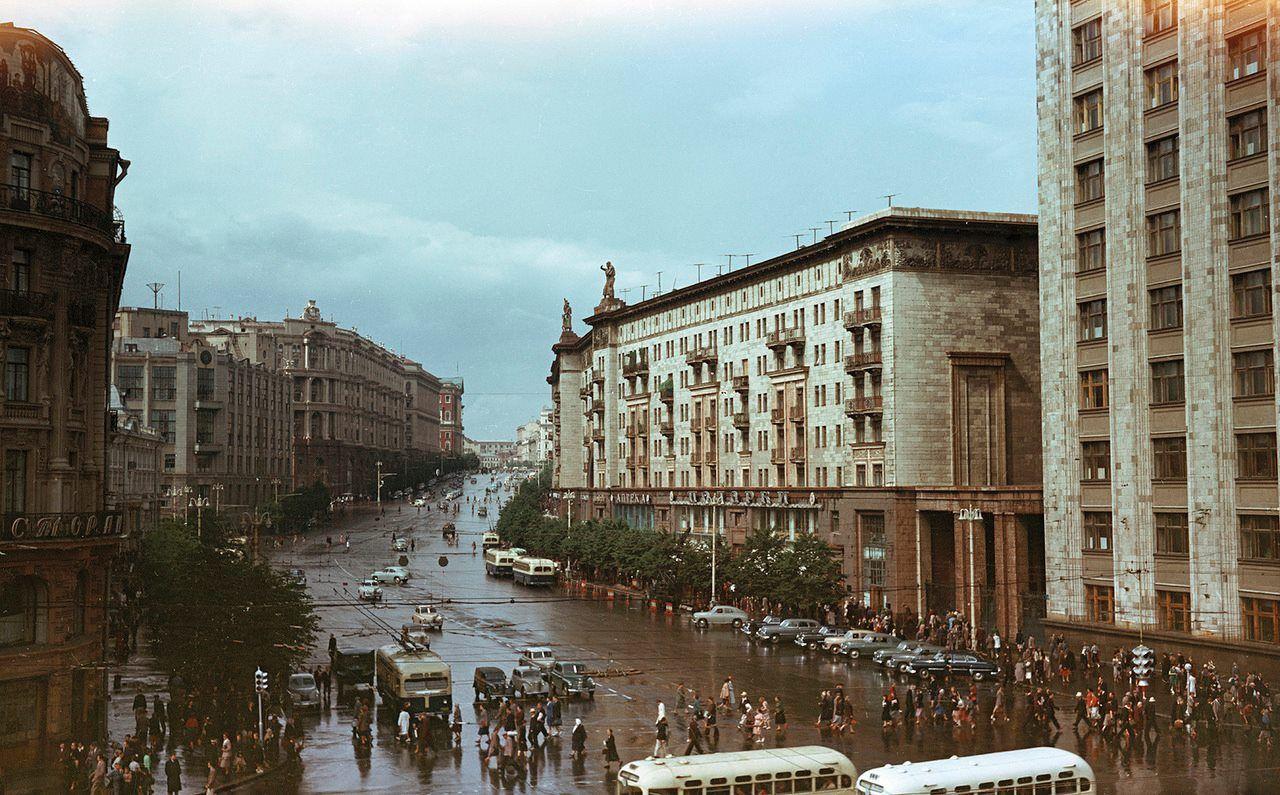 Улица Горького в Москве   Старые фото, Москва, Улица