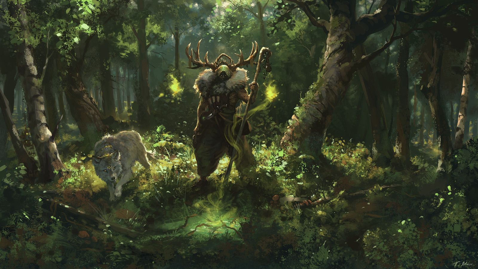 Druids Of Lornwood Teemu Husso On Artstation At Https Www