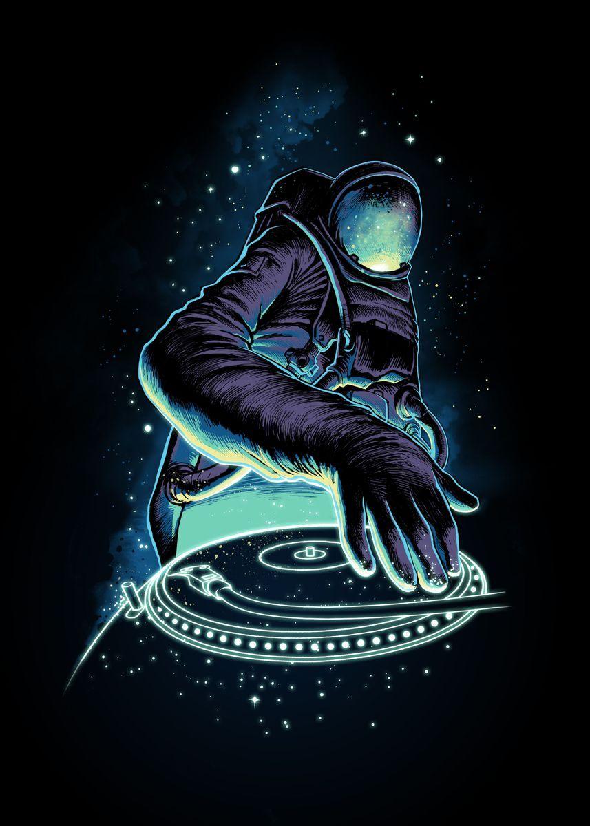 'Astro DJ' Poster Print by Morgan Satria | Displate