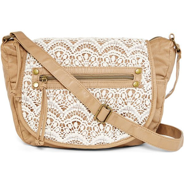 59bf49d8ed8e T-Shirt and Jeans™ Crochet Crossbody Bag with Flap ( 34) ❤ liked on ...