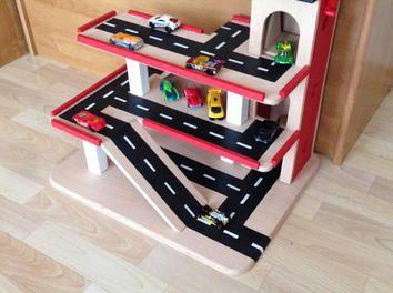 parkhaus aus holz f r kinder weihnachten auto sperrholz kinder geschenk idee spielen buche spa. Black Bedroom Furniture Sets. Home Design Ideas