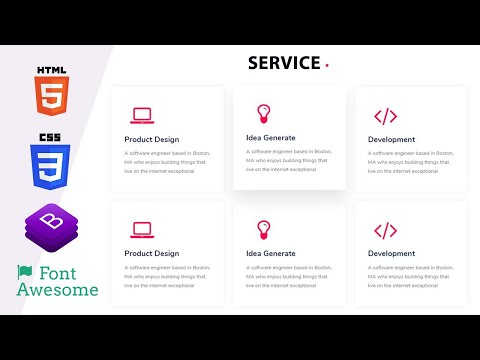 Service Section With Html Css Web Design Youtube In 2020 Web Design Web Design Services Html Css