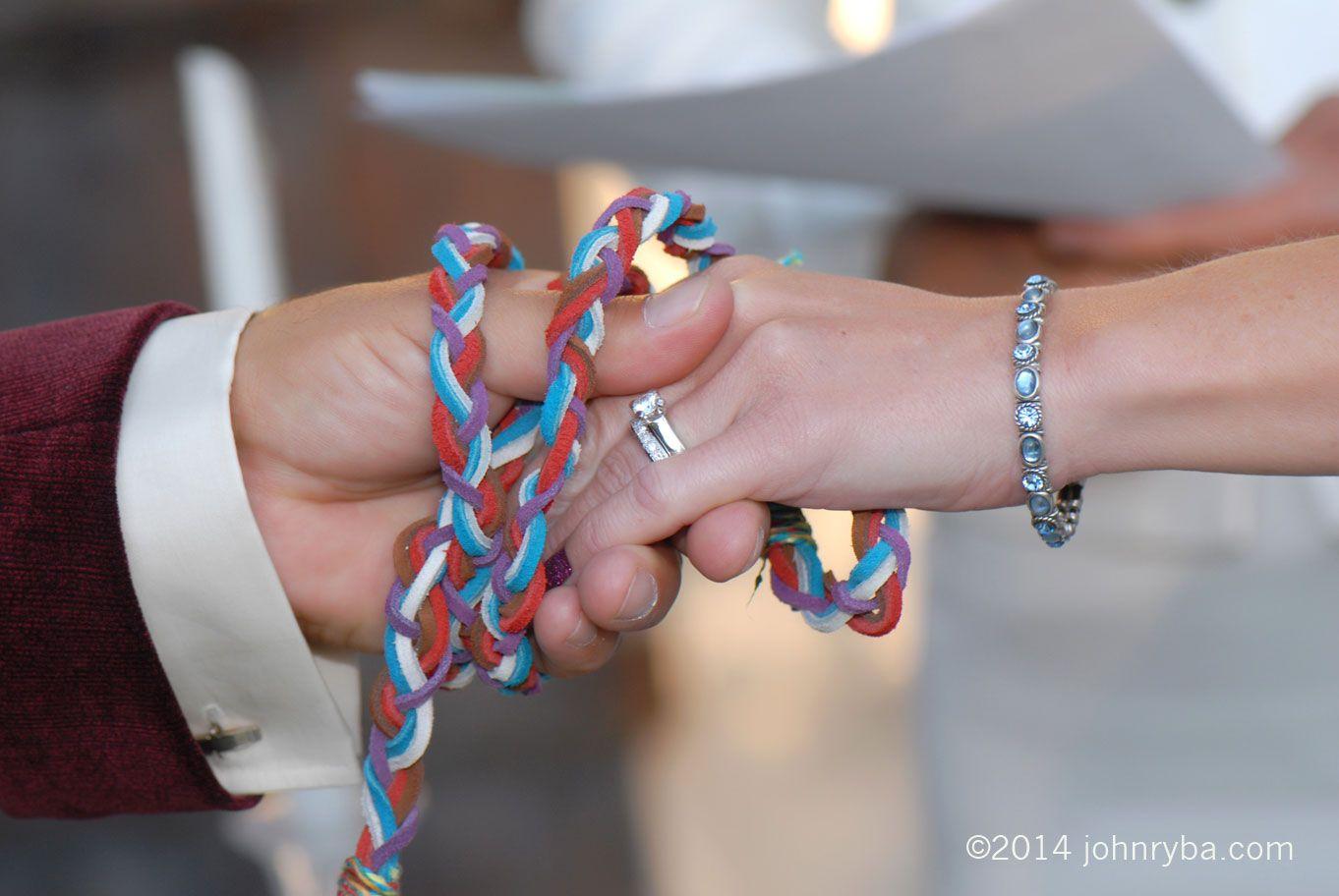 Celtic handfasting tradition fairytale wedding at solomon