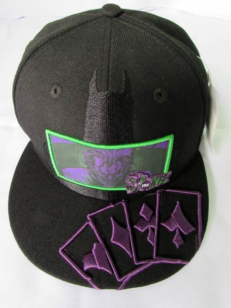 NEW ERA CAP HAT 59FIFTY THE JOKER CARD VS BATMAN DC COMICS BLACK 7 3/8  FITTED