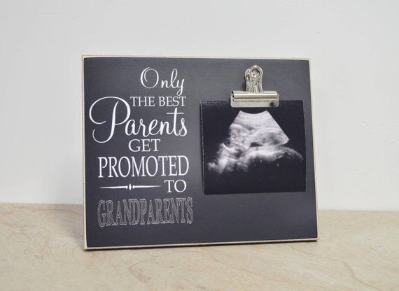 Gift For New Grandparents {Only The Best Parents Promoted To Grandparents}  Picture Frame, Grandpare #grandparentphoto
