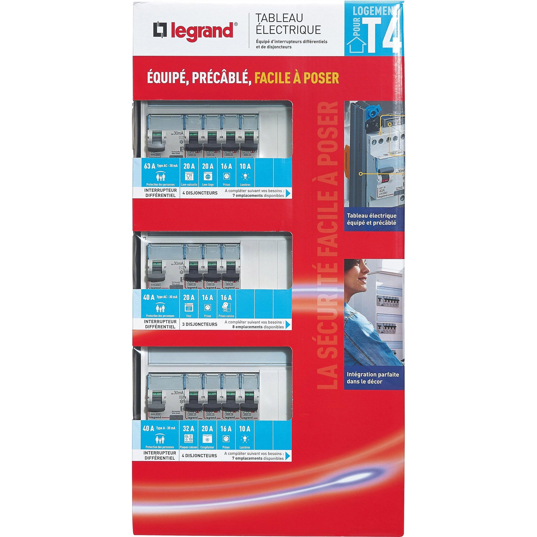 Tableau Electrique Equipe Precable Legrand Essentiel 3 Rangees T4 Tableau Electrique Electrique Et Legrand