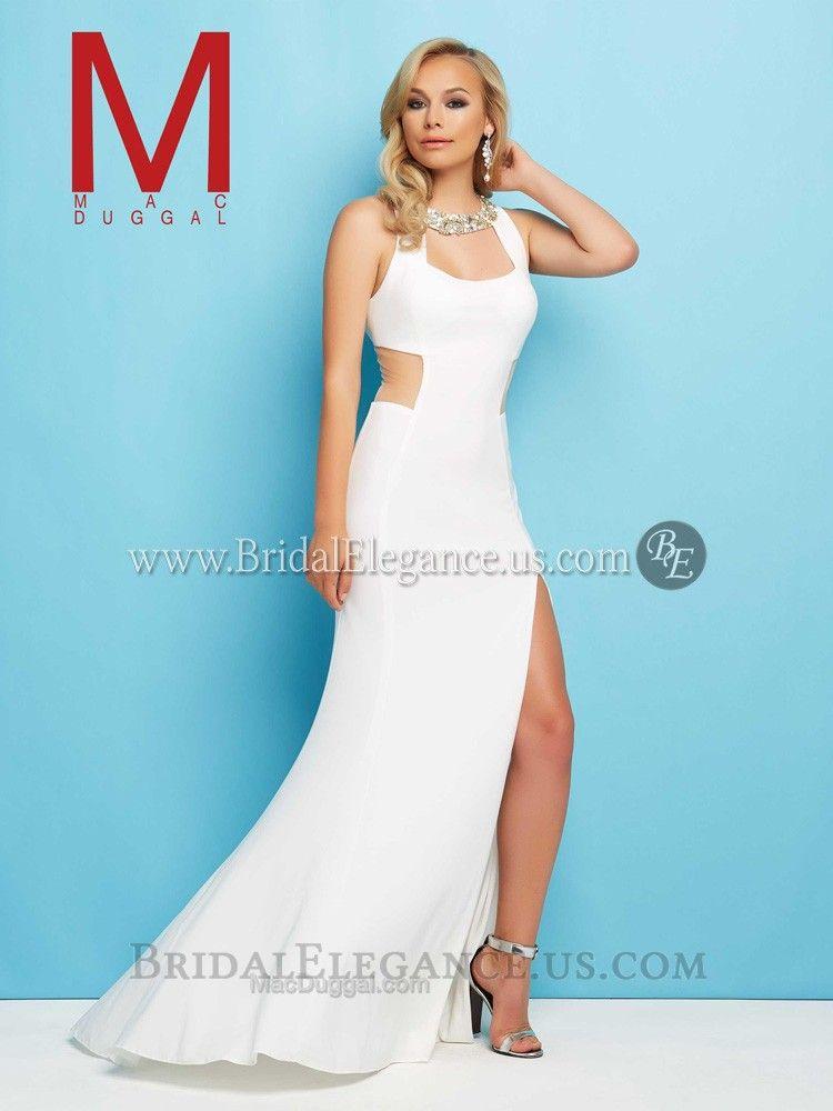 Mac Duggal 65436 | Prom Dresses | Bridal Elegance | White Prom ...