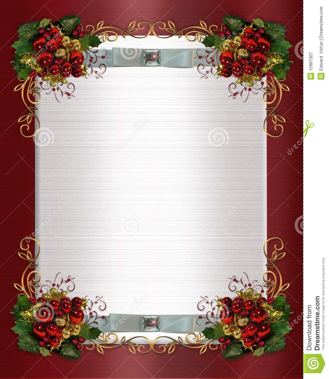 Christmas Or Winter Wedding Border Royalty Free Stock Photography. Templates  FreeInvitation ...  Christmas Invitation Template