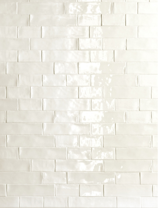 De Fazio Subway Handmade White Tile Love The Way Glistens And You Look Into Glaze See Depth Instead Of A Flat