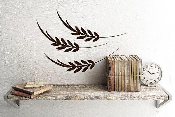 Wheat wall decal decor farmhouse kitchen wall decor decals