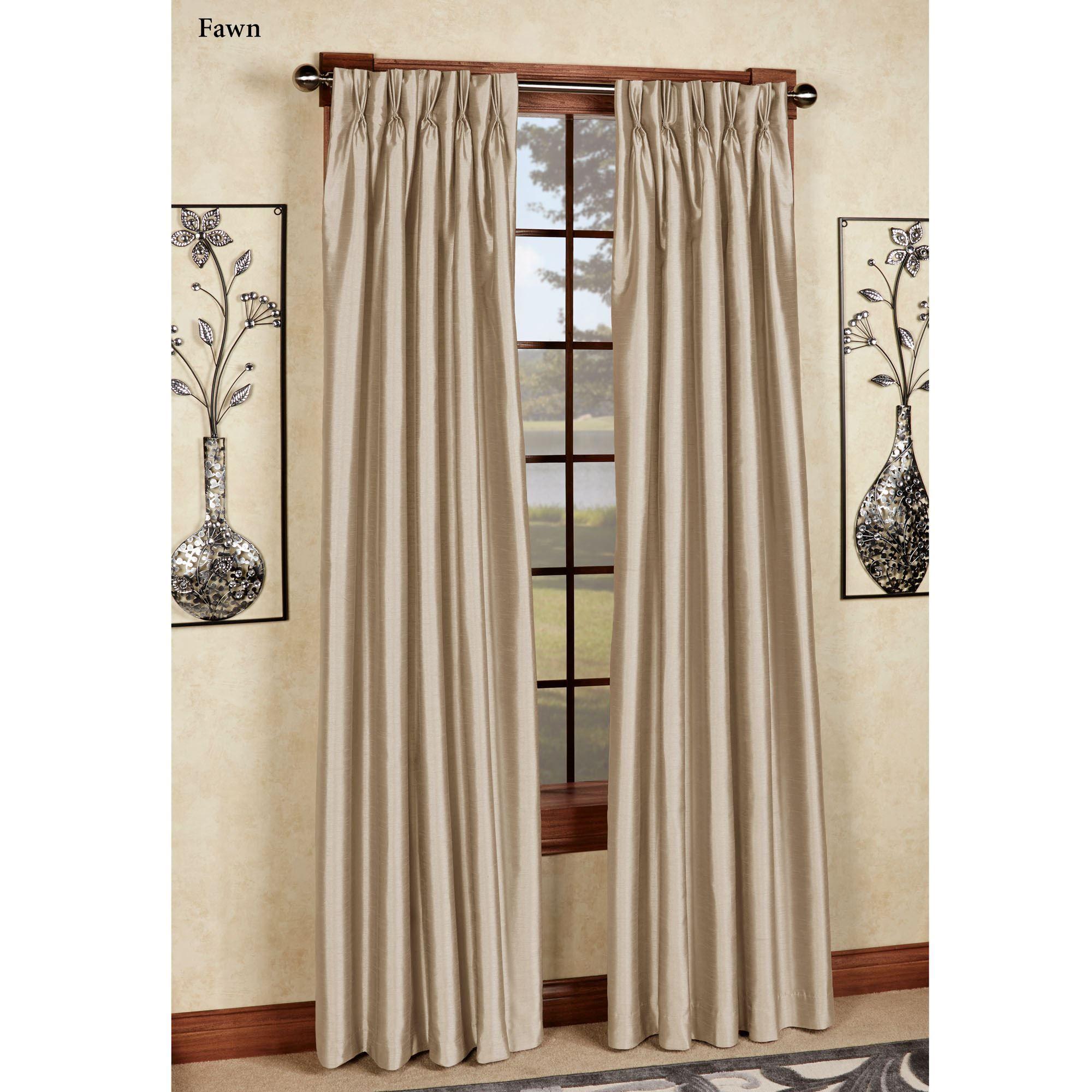 Marquee Flared Faux Silk Pinch Pleat Curtain Panel Pinch Pleat Curtains Pleated Curtains Panel Curtains