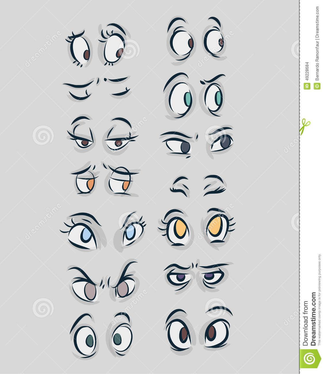 Eyes B Stock Illustration Cartoondealer Com 49228684 Cartoon Style Drawing Hand Drawn Vector Illustrations Cartoon Eyes Drawing