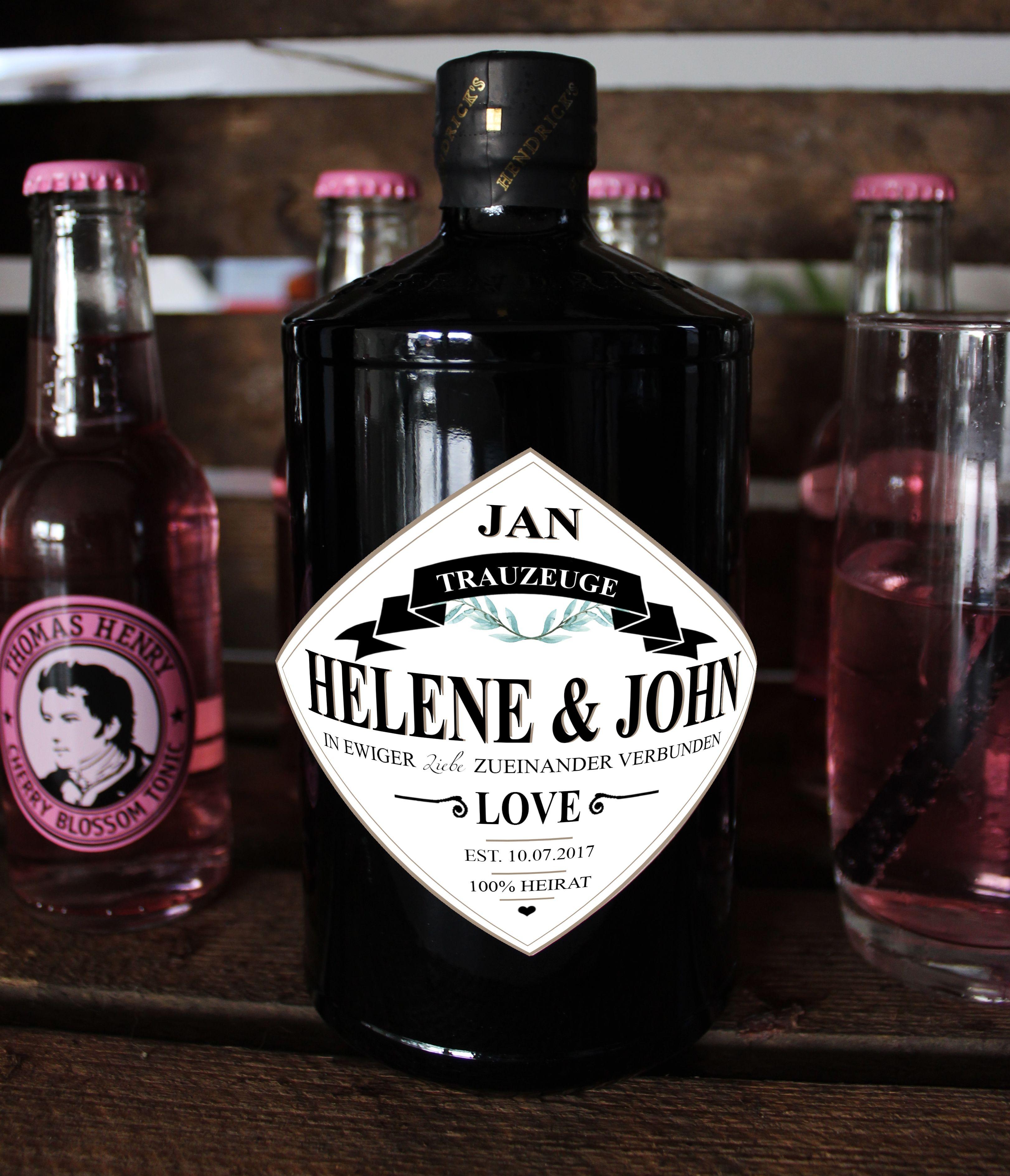 personalisiertes gin etikett geschenk f r trauzeugen und groomsmen hochzeit g nstige. Black Bedroom Furniture Sets. Home Design Ideas