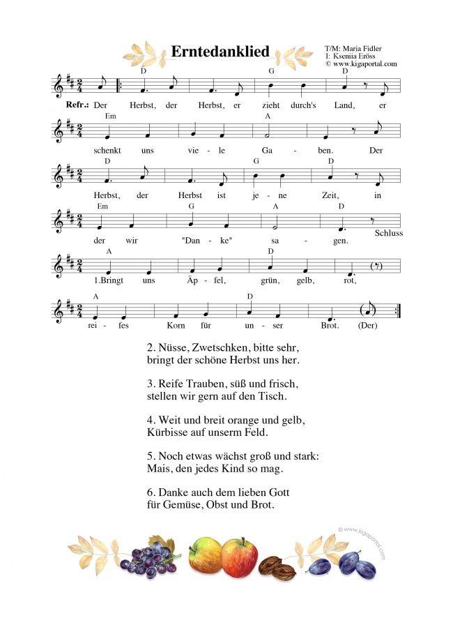 A4-KiGaPortal-Kindergarten-Herbst-Erntedankfest-Morgenkreis-Singen-Tanzen-Ernte-Obst-Gemuese-Brot-Erntedanklied-Gottesdienst #obstgemüse