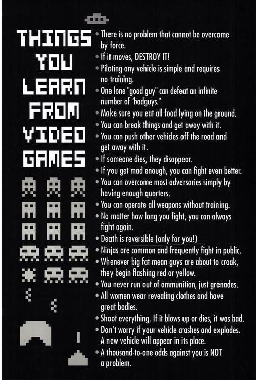 Things To Apply In Real Life Video Game Logic Video Games Funny Video Game Quotes Funny Games