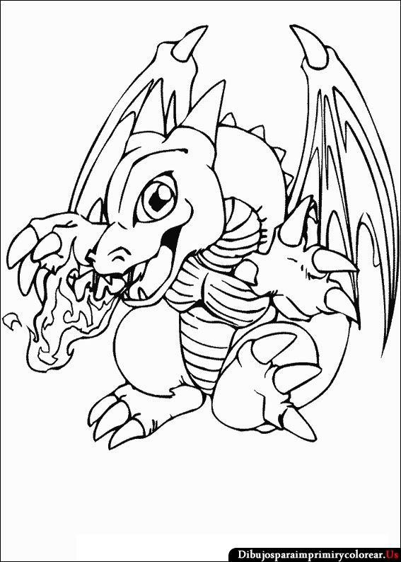 Dibujos de Yu-Gi-Oh para Imprimir y Colorear | dragons | Pinterest ...