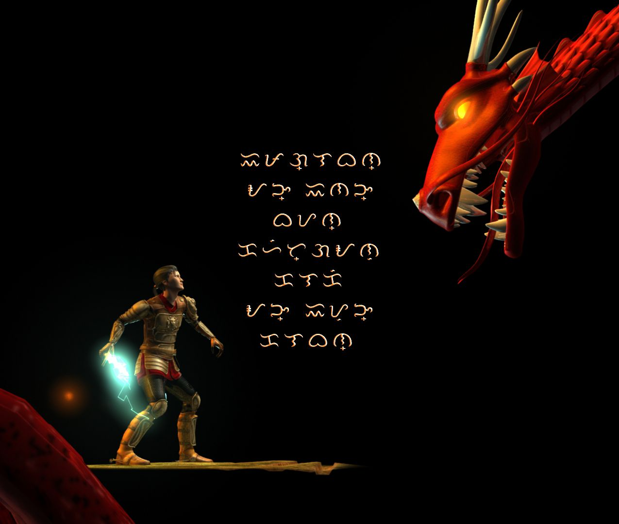Sir Juan and the Red Dragon - Baybayin text